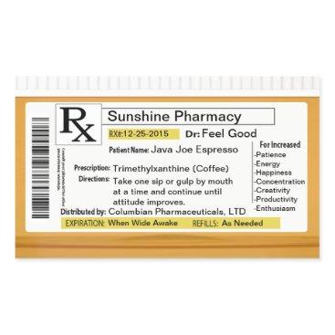 Coffee Themed Prescription for Coffee Rectangular Sticker