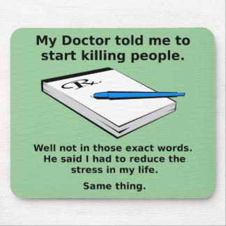 Prescription To Kill Funny Mousepad Mouse Pad