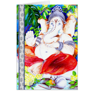Presence of Mind - Ganesh Greeting Card