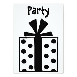 present 5x7 paper invitation card