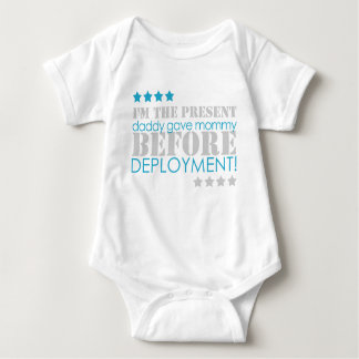 Present between deployments baby bodysuit