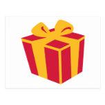 Present gift box post card