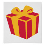 Present gift box posters