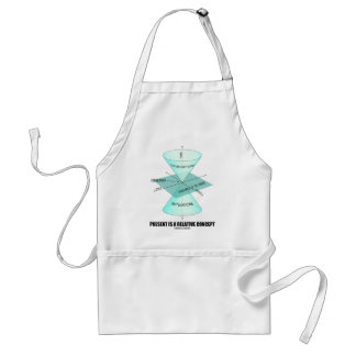 Present Is A Relative Concept (Light Cone Physics) Adult Apron