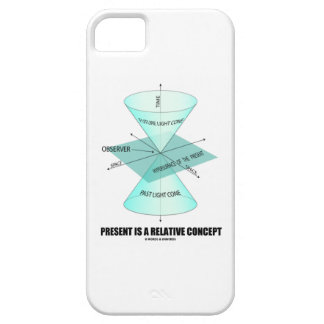 Present Is A Relative Concept (Light Cone Physics) iPhone SE/5/5s Case