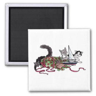 Present Kitties Fridge Magnet