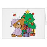 Present Peeking Christmas Bear Greeting Cards