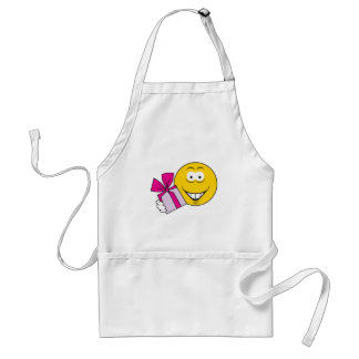 Present Smiley Face Adult Apron