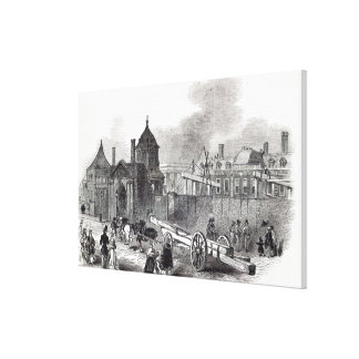 Present state of the British Museum Canvas Print