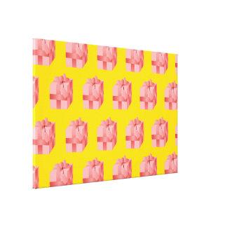 Present yellow canvas print