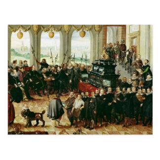 Presentación a duque Phillip II Postal