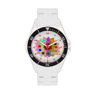 Presentación artística de la flor relojes