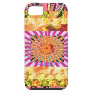 Presentación artística de la sol y del collage de funda para iPhone SE/5/5s