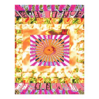 Presentación artística de la sol y del collage de membrete a diseño