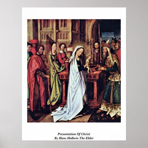 Presentación de Cristo de Hans Holbein la anciano Posters