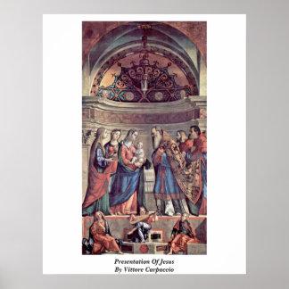 Presentación de Jesús de Vittore Carpaccio Impresiones