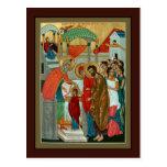 Presentación de la tarjeta del rezo de Theotokos Postales