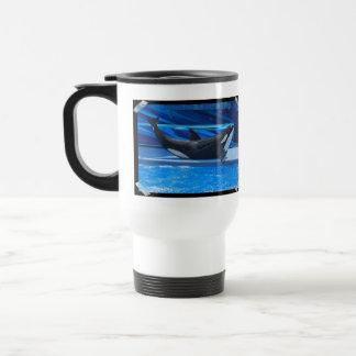 Presentación de la taza plástica del viaje de la o