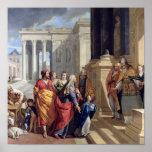 Presentación de la Virgen en el templo Póster