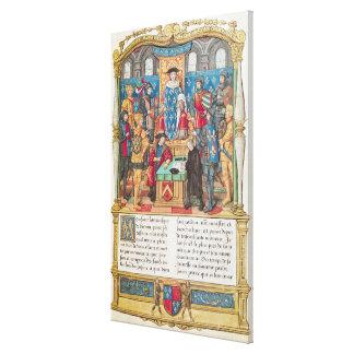 Presentación de las memorias a Louis XI Impresión En Lienzo Estirada