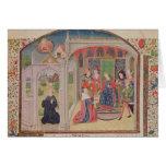 Presentación de los éticas al rey tarjeta de felicitación