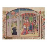 Presentación de los éticas al rey tarjeta postal