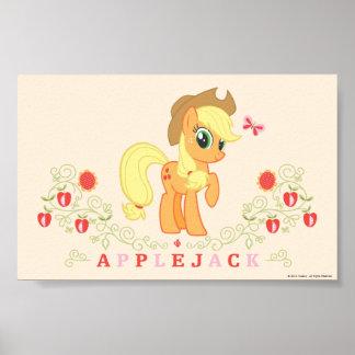 Presentación del aguardiente de manzana póster