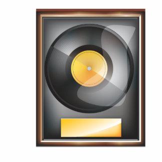 Presentación del disco de vinilo fotoescultura vertical