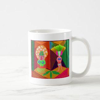 Presentación del fiesta de la diversión tazas de café
