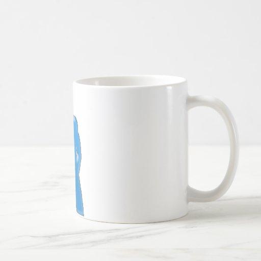 Presentación del hombre taza básica blanca