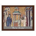 Presentación del Jesús infantil en el templo cerca Comunicado