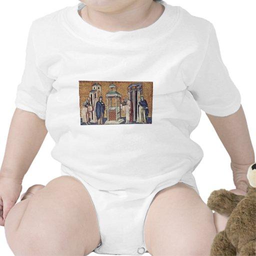 Presentación del Jesús infantil en el templo cerca Trajes De Bebé