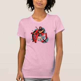 Presentación del monopatín X Camiseta