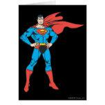 Presentación del superhombre tarjeta de felicitación