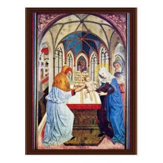 Presentación en el templo de Meister Der Pollinge Tarjetas Postales