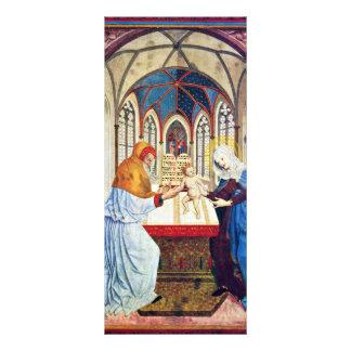 Presentación en el templo de Meister Der Pollinge Diseño De Tarjeta Publicitaria