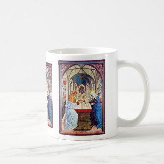 Presentación en el templo de Meister Der Pollinge Tazas De Café