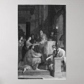 Presentación en el templo póster