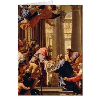 Presentación en el templo tarjeta de felicitación