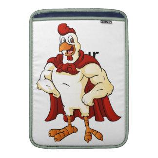 Presentación estupenda del gallo del dibujo fundas macbook air