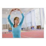 Presentación joven del gimnasta felicitaciones