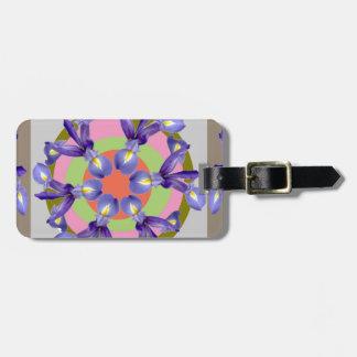 Presentación SANTA de la flor del IRIS holandés de Etiqueta De Equipaje