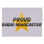 Presentador de noticias de radio orgulloso felicitaciones
