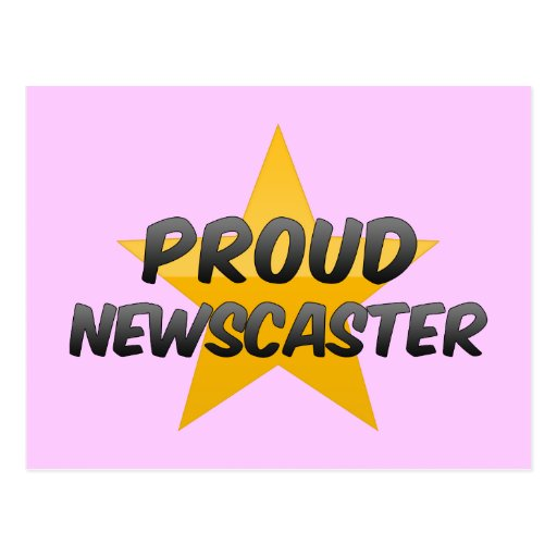 Presentador de noticias orgulloso postales