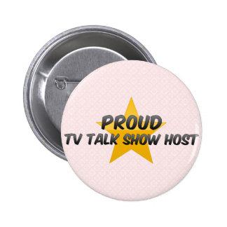 Presentador de un programa de entrevistas orgullos pin