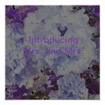 Presentar a la señora y a la señora invitación 13,3 cm x 13,3cm