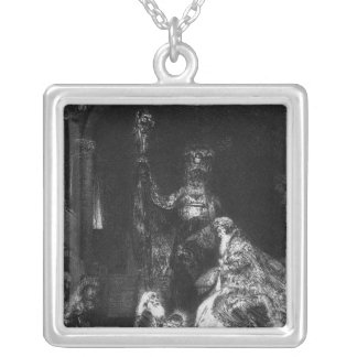 Presentation in the Temple, 1654 Square Pendant Necklace