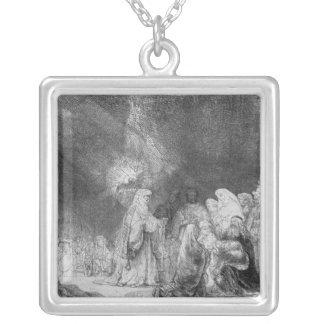 Presentation in the Temple 2 Square Pendant Necklace