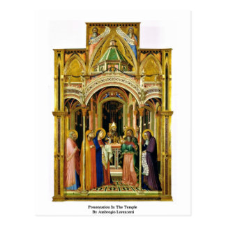 Presentation In The Temple By Ambrogio Lorenzetti Postcard