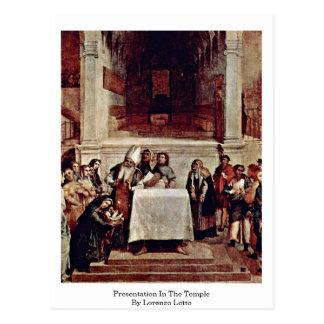 Presentation In The Temple By Lorenzo Lotto Postcard